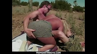 MomsWithBoys - MILF Blonde Outdoor Desert Sex With Young Boyfriend