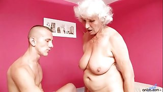 Old Mature Betty Fucks Young Cock