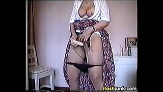 Grandma Masturbating With A Vibrator