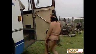 Hairy native American mature woman