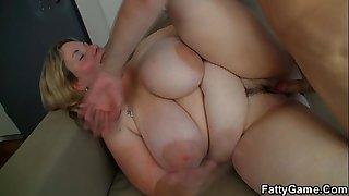 He fucks big tits blonde plumper