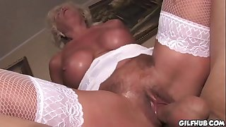 Old grandma fucked by her grandson