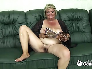 Flabby Old Granny Drains A Young Mans Balls