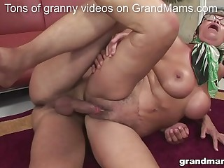 Old but oddly fit granny with nice boobs gets fucked hardcore