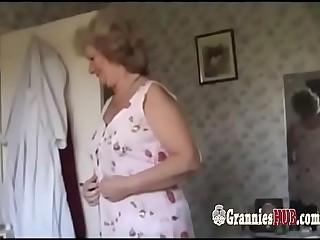 Amateur Granny Blonde And Her Husband Make Love