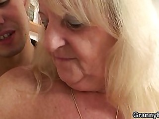 70 years old granny and boy fucking