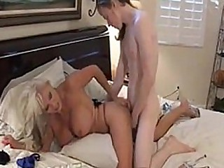 Stunning granny and young guy