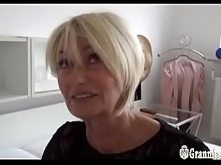 Beautiful German Granny Franziska Striptease And Masturbation
