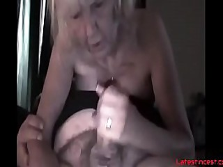 Nasty granny fucks own grandson after drinks