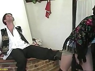 hairy 81 years old farmers granny gets extreme rough banged by her young toyboy