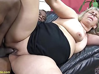 chubby pussy shaved 71 years old granny enjoys her first time big black cock interracial porn