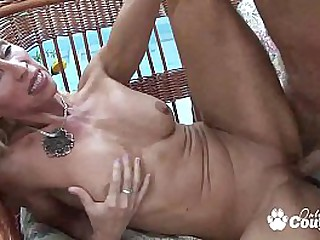 Blonde cougar gets a nice hard fucking
