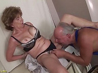 extreme horny big boob deepthroat loving granny enjoys rough ass fucking with her crazy stepson