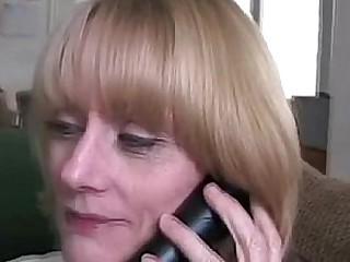 Blonde granny stepmom sucking dick