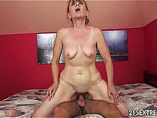 Granny Nanney has lust for a young cock