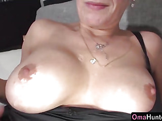 OmaHunter Teen girl with strapon fucks chubby mature