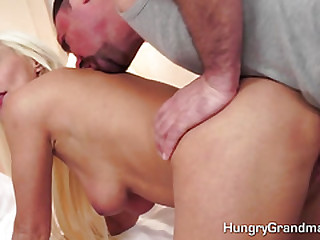 Blonde mature extra hot foreplay