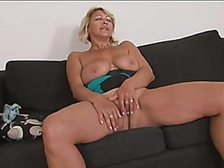 Busty blonde gilf doggy style long black cock