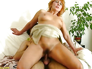 redhead hairy mom rough big cock toyboy banged