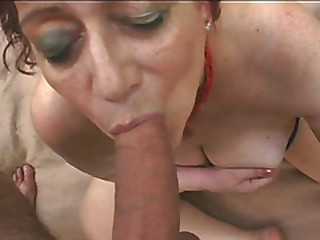 Bbw fat redhead granny sucking cock fuck in the woods