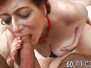 Horny granny Tamara has a deep throat.