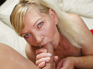 Blonde GILF in need of some stud action