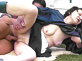 extreme ugly 80 years old granny rough outdoor fucked by her young toyboy