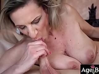 Nikki bangs granny Conchita deep in her twat