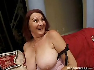 Redhead Granny With Some Nice Funbags