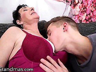 Hot Granny Gets Fucked Hard By Her BFF's Grandson Big Dick