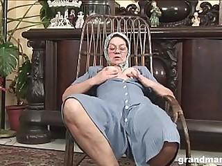Amazing hardcore fuck starring a 70 year old knitting granny