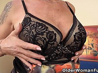 61-year-old Euro granny Inke goes to town inside her old pussy with a long dildo (brand NEW video available in Full HD 1080P). Bonus video: European grandma Danina.