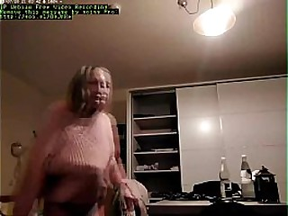 Granny caught changing on hidden camera