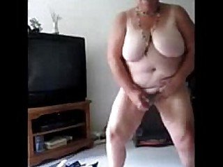 Exhibitionist slut granny selftaped masturbating. Amateur