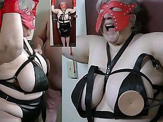 Granny nipples t. with a spiked bra