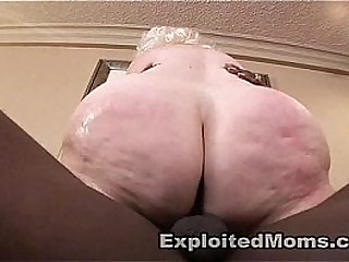 Thick BBW Mature Ass takes a Big Black Cock in Granny Sex Video