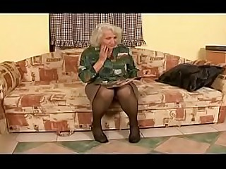 Hey My Grandma Is A Whore #17 - Christina - Grey haired granny seduces a y. man