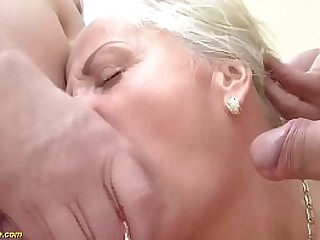 blonde granny gets b. double big cock fucked
