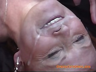 Granny Cum Eating and Swallowing Compilation