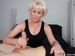 Mature woman jerking off
