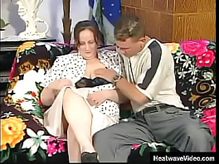 Big Bad Granny's - Amanda - Slutty grandma can't take her eyes off this young boy's muscular body