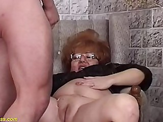 big boob bbw redhead mature witch gets rough hairy pussy fucked by her toyboy on helloween