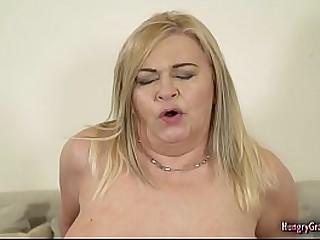 Busty granny fucked hard