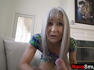 Granny takes care of sexually frustrated grandson