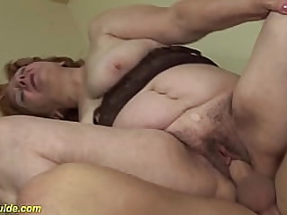 saggy boobs chubby redhead 74 years old toothless granny gets extreme wild big cock banged by her horny stepson