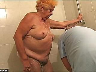 OldNanny Old Chubby lady granny sucking dick and masturbation