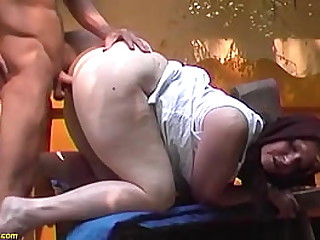 fat ass hairy bush granny gets deep doggystyle outdoor fucked by her big cock stepson
