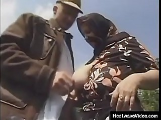 Hey My Grandma Is A Whore #9 - Tammy - Granny is shocked, but the young stud pulls her big tits out of bra and sucks her nipples