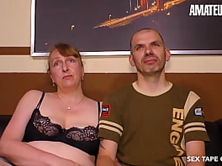 SEXTAPE GERMANY - Shy Granny Takes Cock From Hubby On Her First Homemade Sex Scene