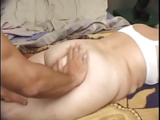 Granny loves to show her affection to this young dude to give him pleasure times